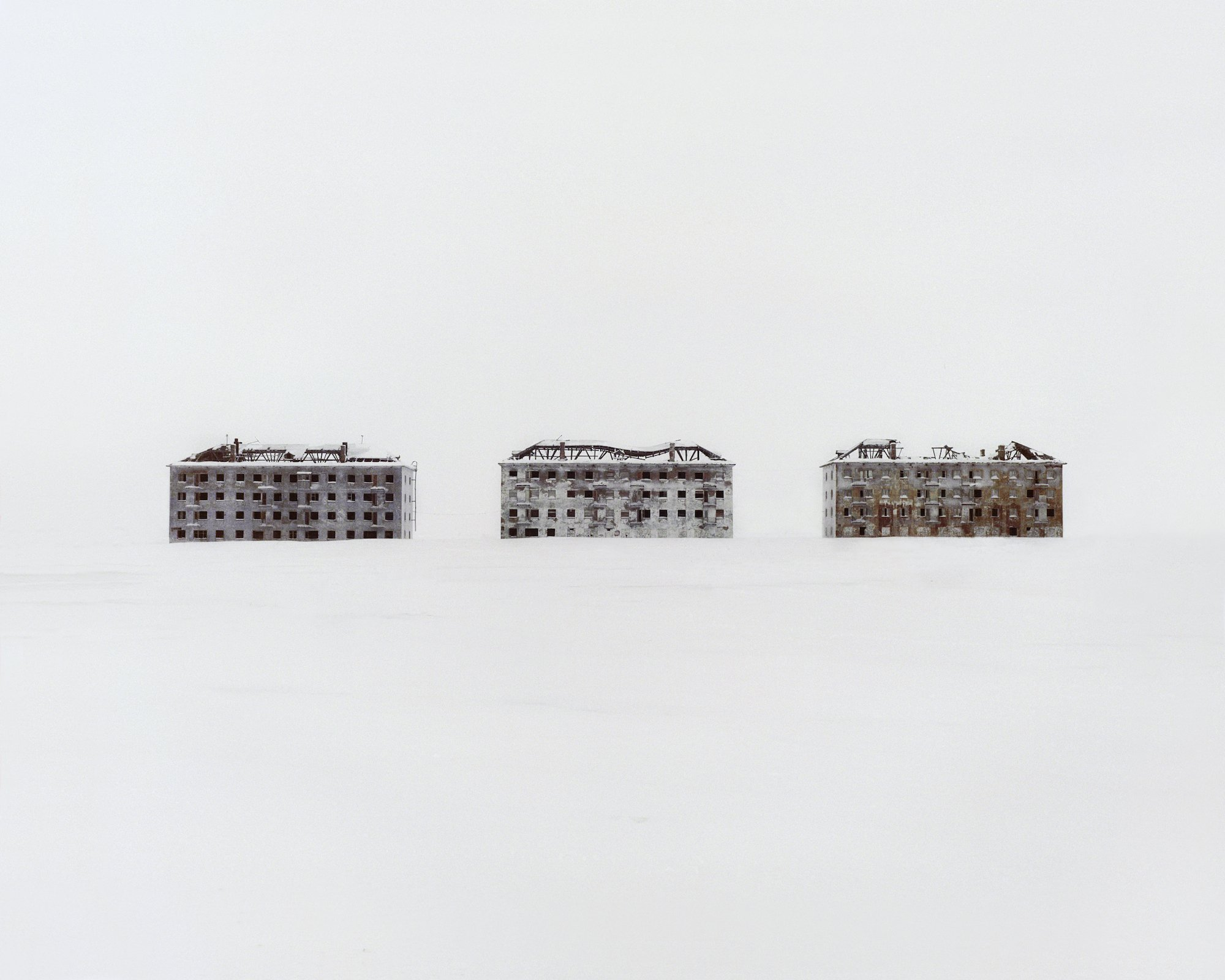 Restricted Areas - former residential buildings in a deserted polar scientific town that specialised in biological research