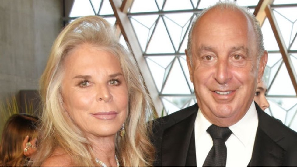 Sir Philip Green and Lady Green