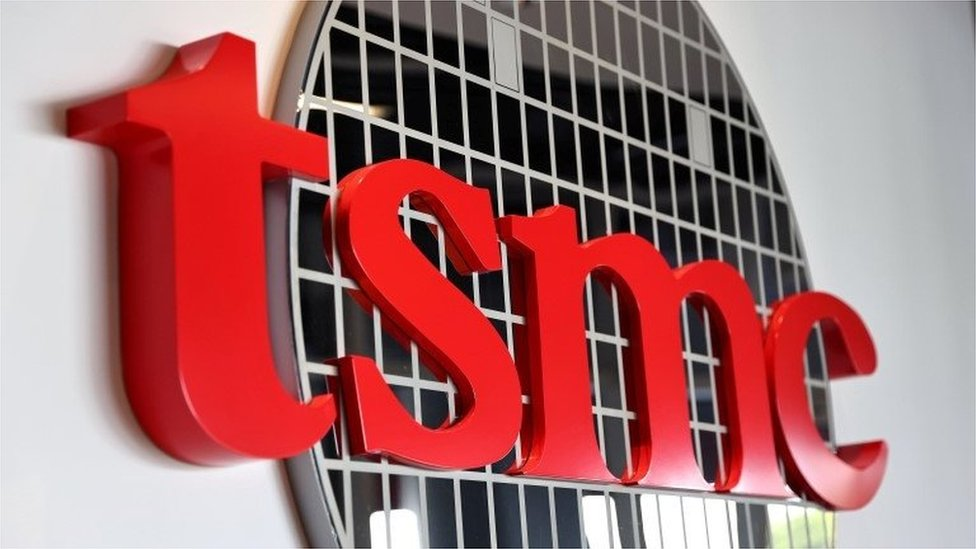 The logo of Taiwan Semiconductor Manufacturing Co (TSMC) is pictured at its headquarters, in Hsinchu, Taiwan, January 19, 2021.