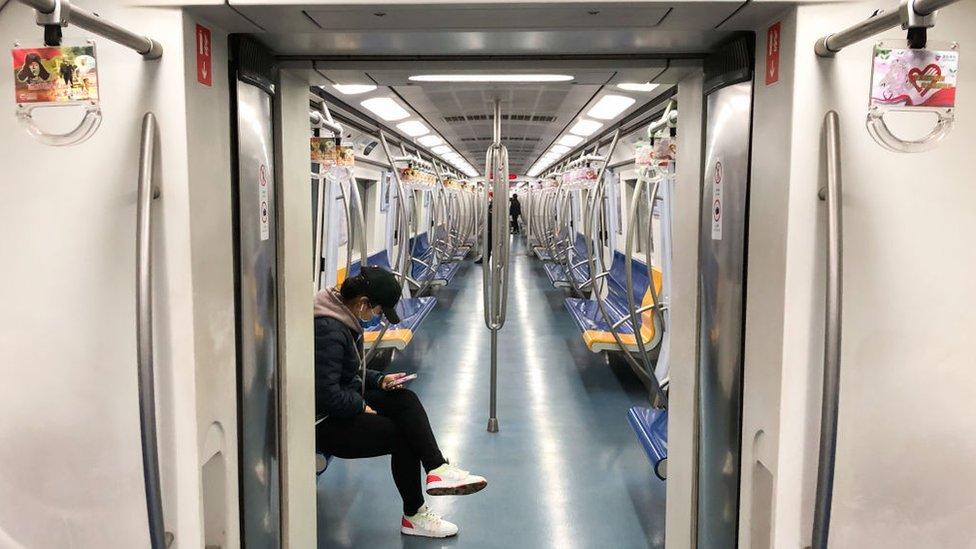 Vagón de metro en China