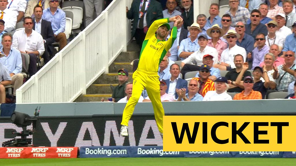 Cricket World Cup: Australia's Glenn Maxwell and Aaron Finch combine to catch and dismiss Chris Woakes