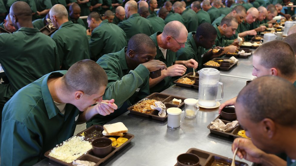 The Lakeview Shock Correctional Facility in upstate New York is one of several 'shock camp' prisons run by New York State that allows prisoners convicted of a non-violent crime to dramatically reduce their sentences by volunteering for the six month program.