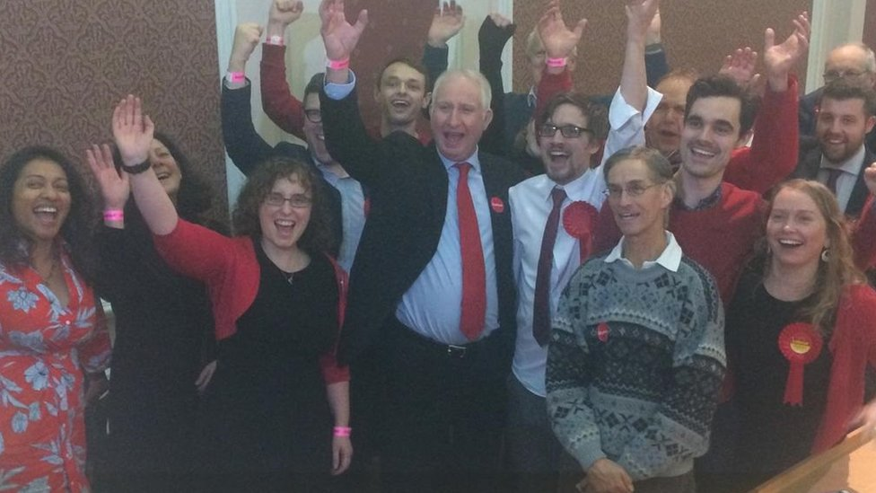 Cambridge MP Daniel Zeichner celebrates.