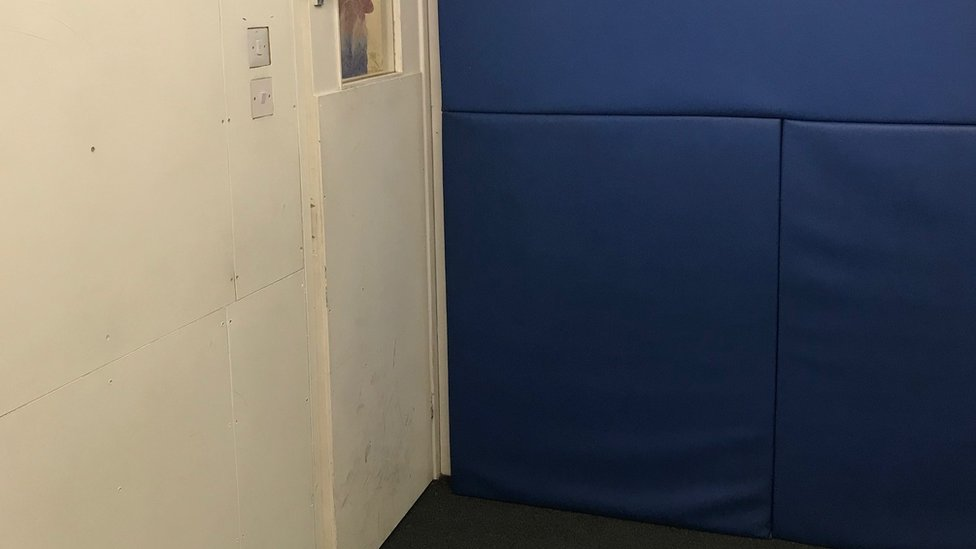 Padded seclusion room is used in a primary school