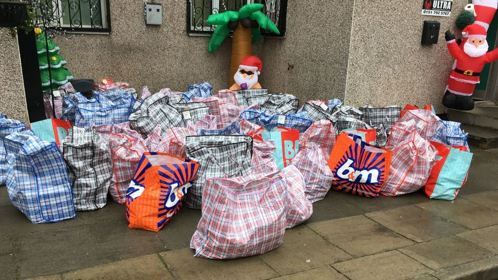 Secret Santa's hamper donation for needy Liverpool families