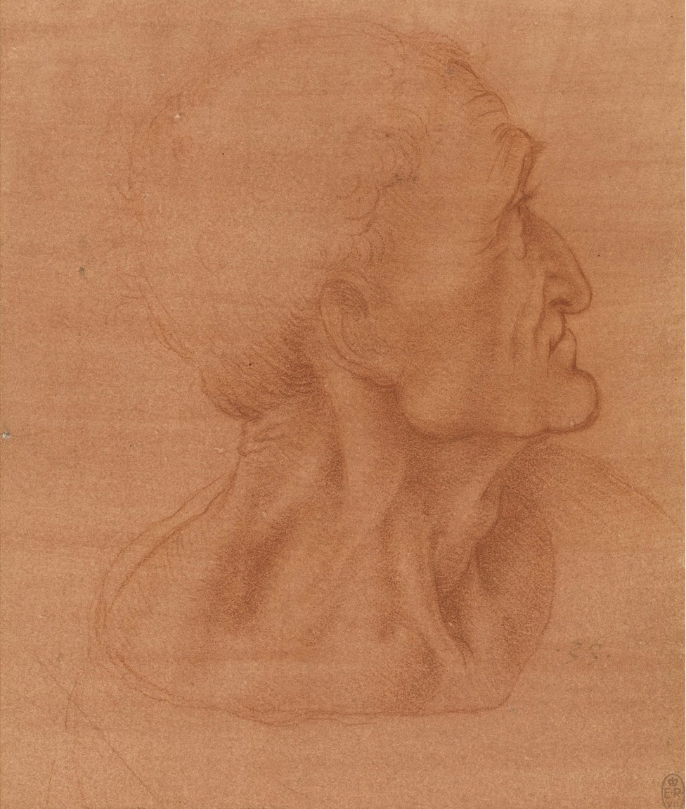 A drawing of the head of Judas by Leonardo da Vinci