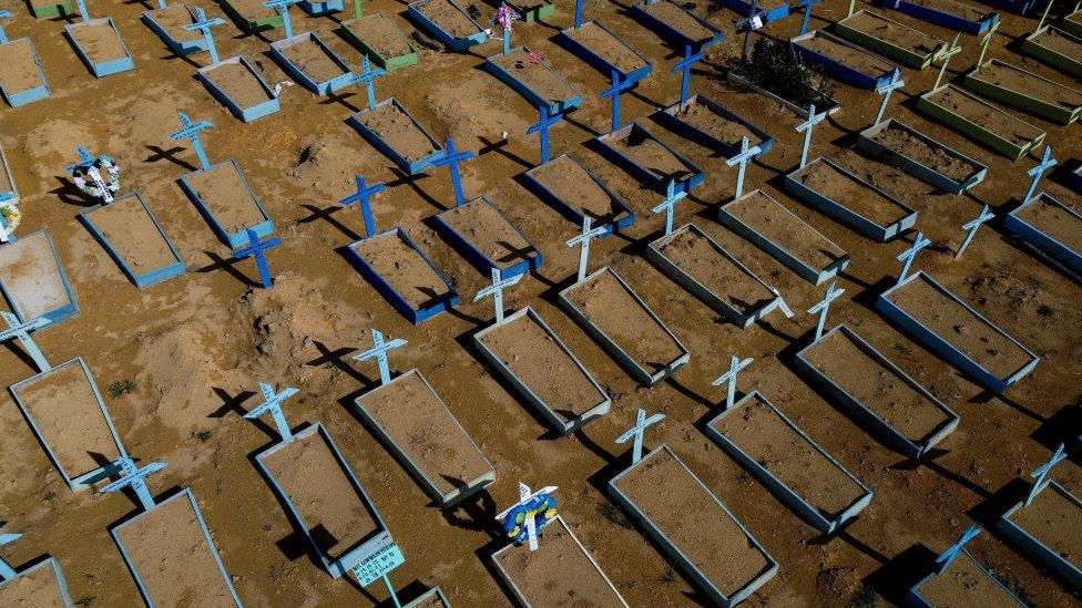 Cementerio en Manaos, en Brasil.
