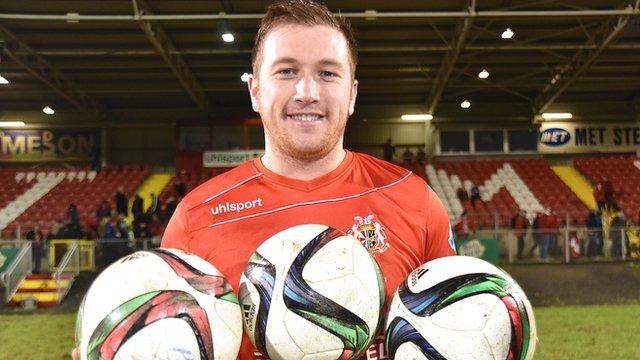 Portadown hat-trick hero Mark McAllister