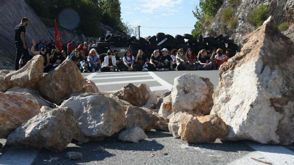 Cetinje, protest