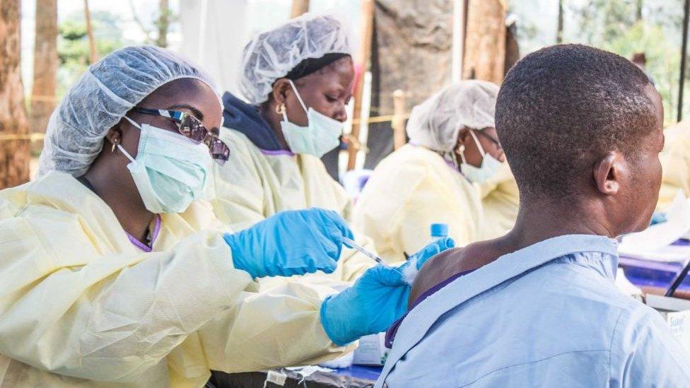 Vacunación contra el ébola en la República Democrática del Congo.