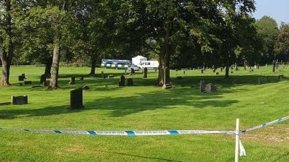 Scene at Accrington Cemetery