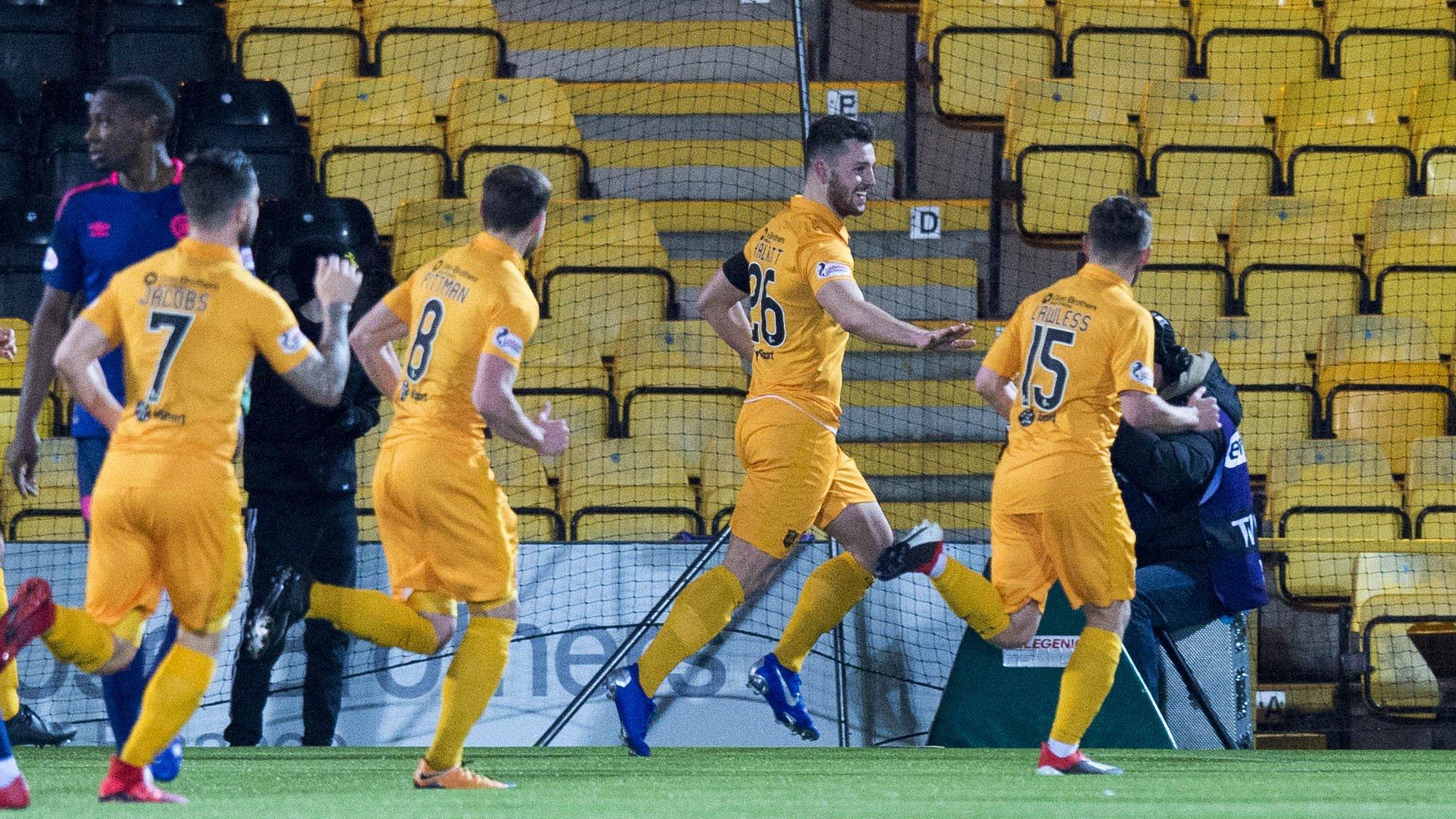 Livingston 5-0 Hearts: Hosts score five goals and Arnaud Djoum sent off in 14-minute spell