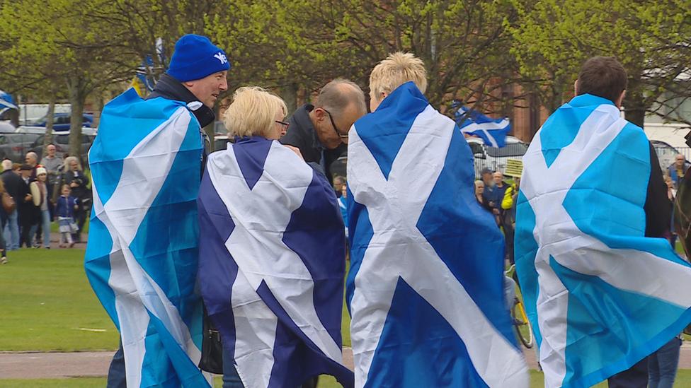 Scottish independence marchers