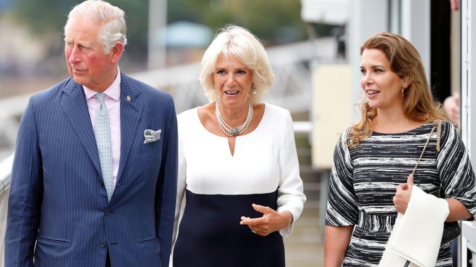 Prenses Haya (en sağda), Prens Charles ve eşi Camilla ile Londra'da (5 Eylül 2018)