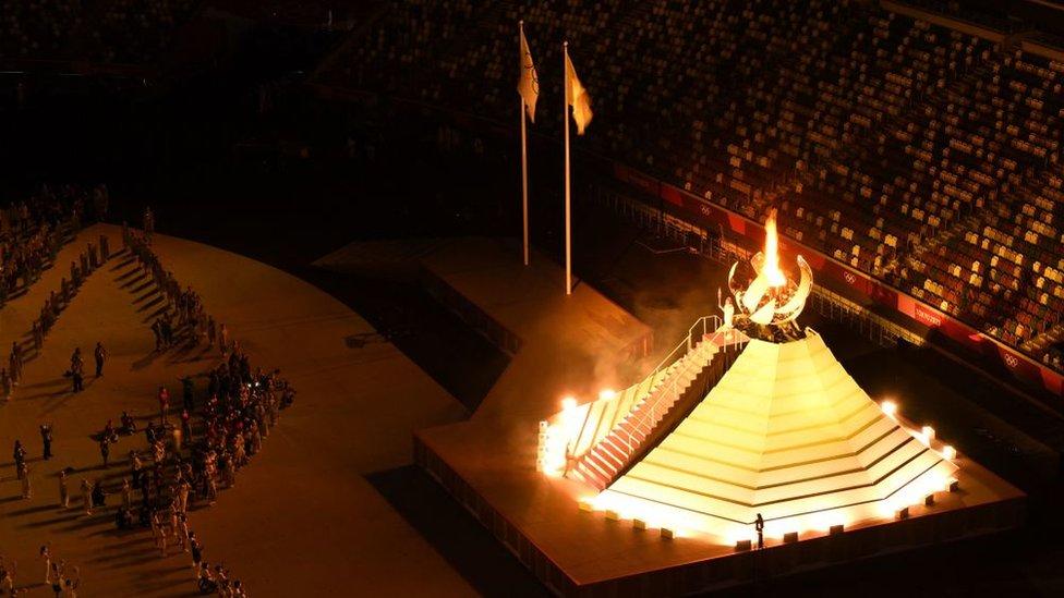 La ceremomia de inauguración