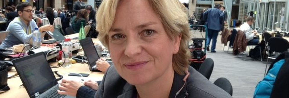 Picture of Danish journalist Lotte Mejlhede from TV2 News