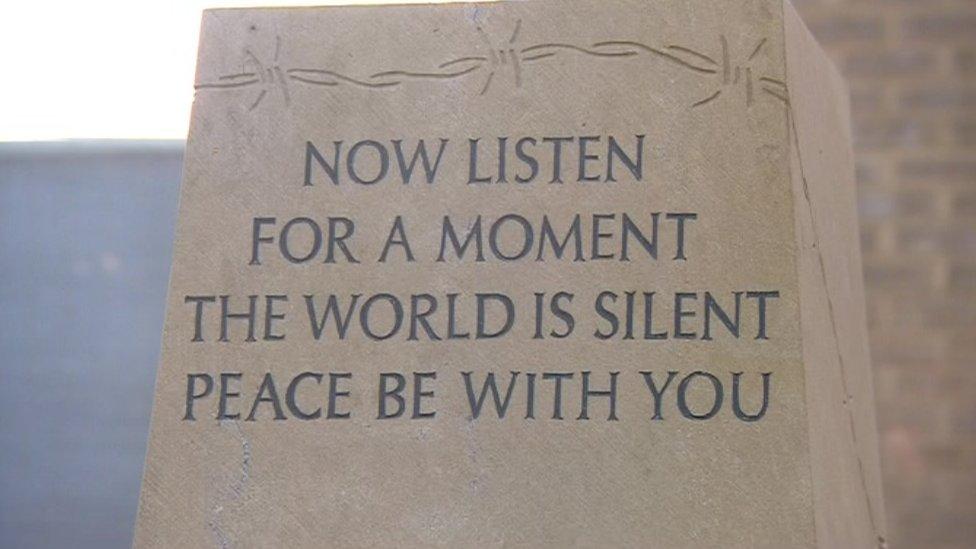 War memorial designed by prisoners at Erlestoke is unveiled