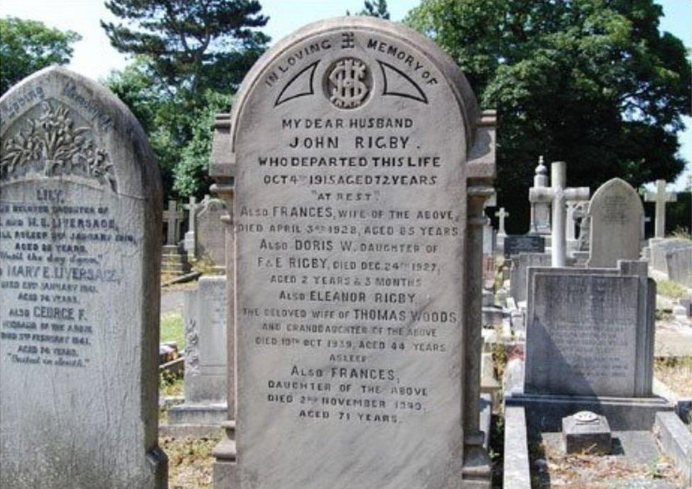 Eleanor Rigby grave