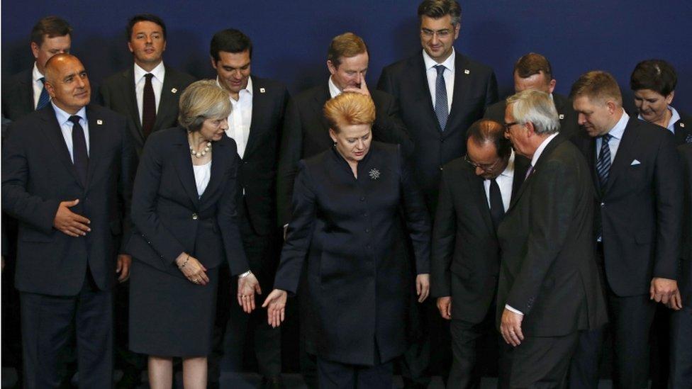 EU leaders at summit