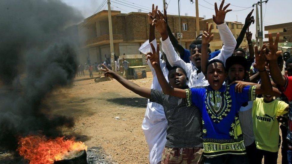 Demonstran di Sudan