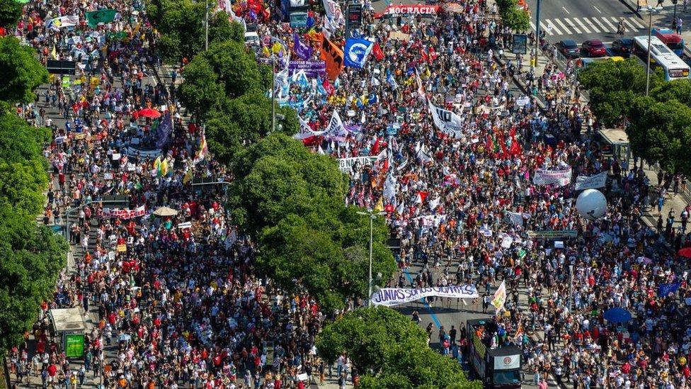 Protesta en Río de Janeiro el sábado 29 de mayo.