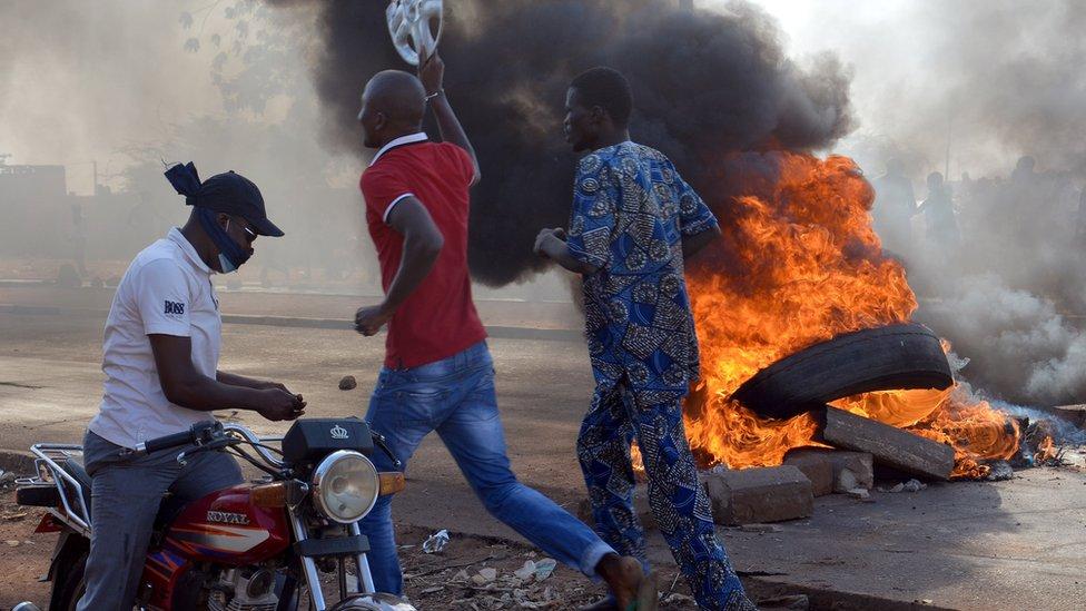 Protests in Niamey in November 2015