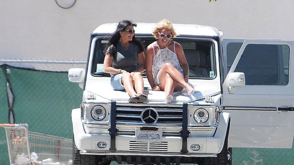 Britney y su madre en Los Ángeles en 2015