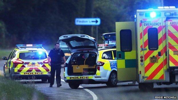 Findon stabbing scene