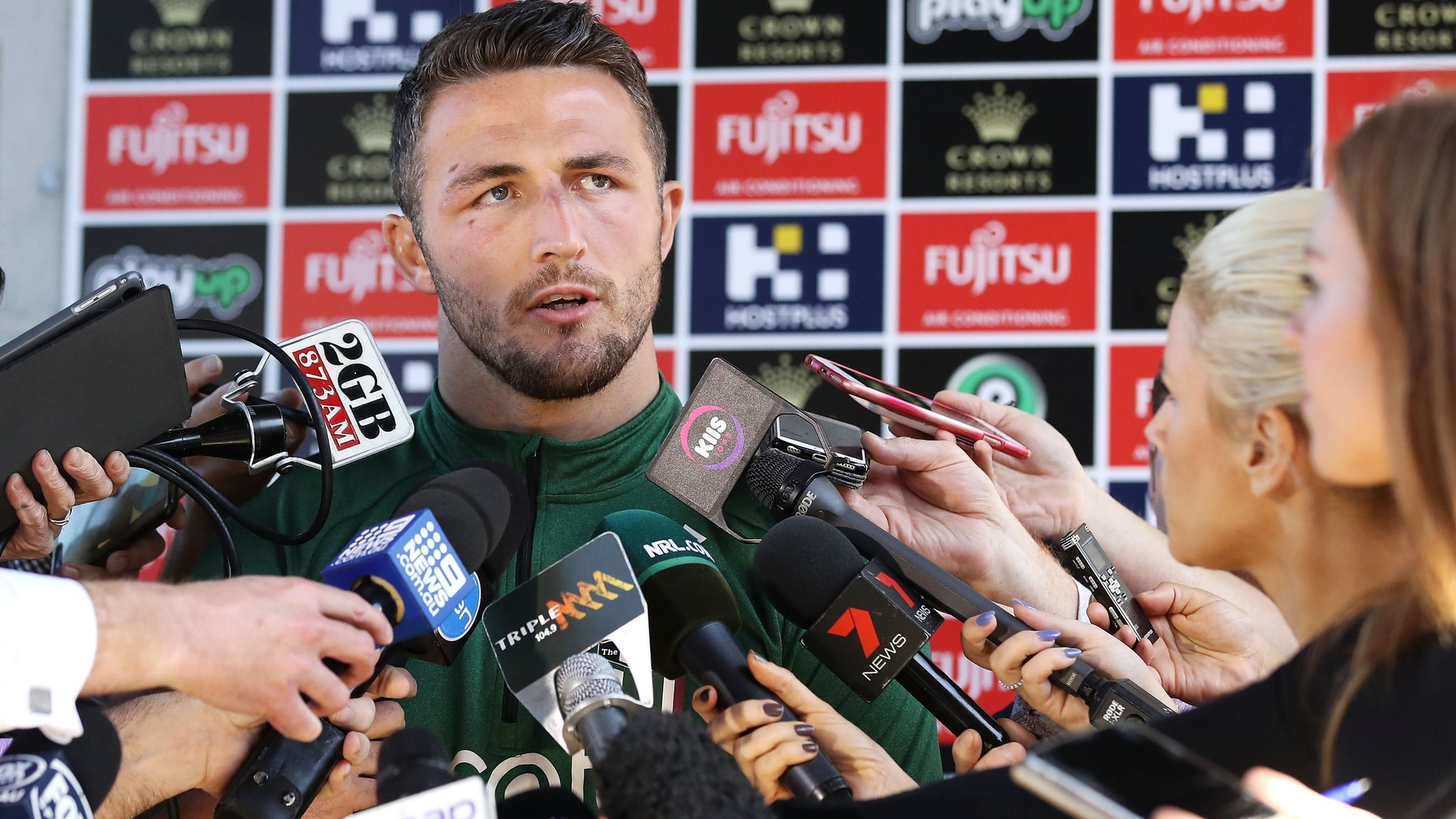 South Sydney's Burgess addresses 'sexting' claims