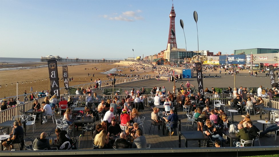 Crowds in Blackpool