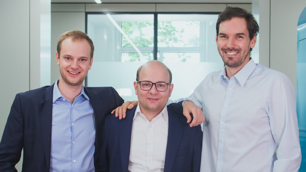 Fundadores de Celonis. De izquierda a derecha: Alexander Rinke, Bastian Nominacher y Martin Klenk
