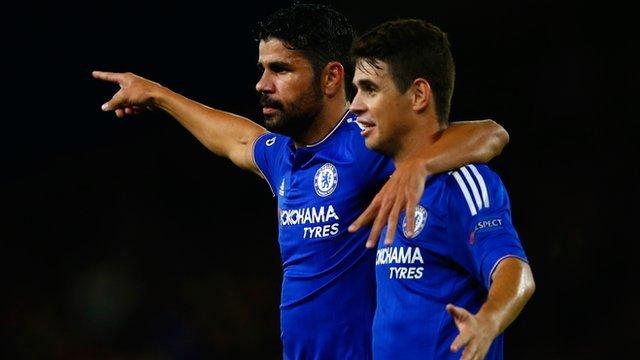 Chelsea's Diego Costa and Oscar