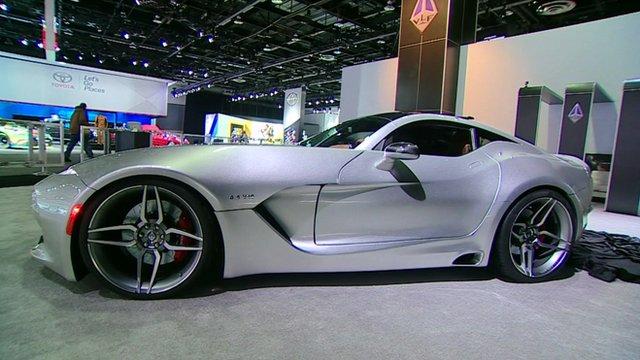 """VLF Automotive's """"super car"""" at the Detroit Auto Show"""