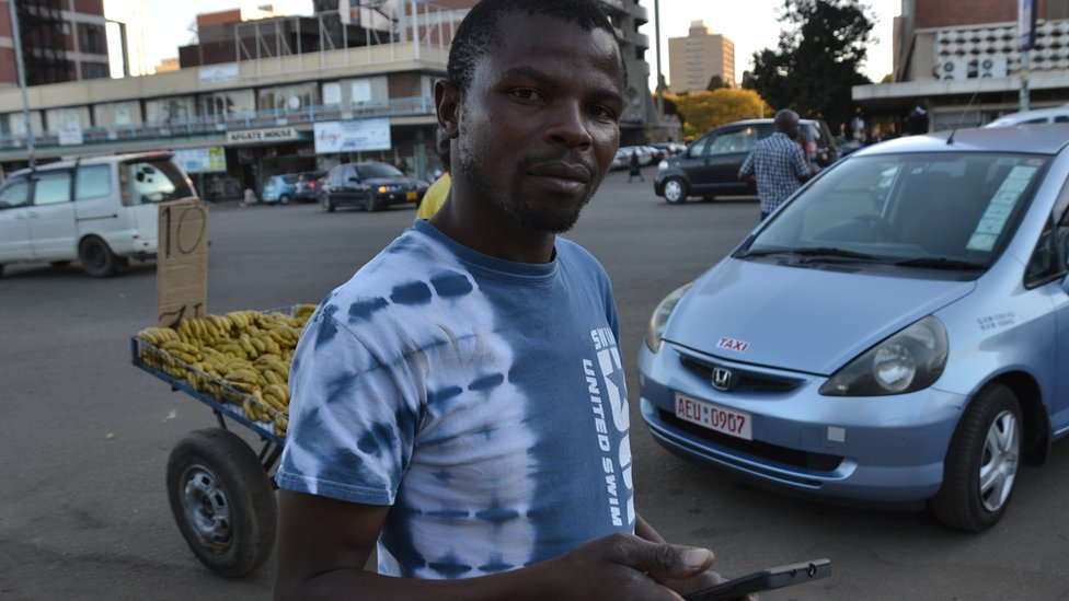 Job seeker Mathias Mpangi in Harare, Zimbabwe