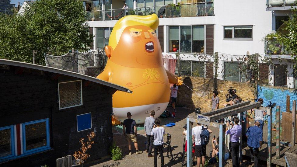 The Trump baby balloon