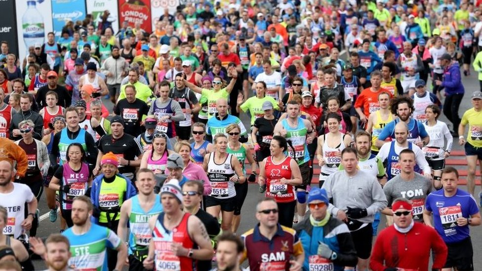 Record numbers are taking part in this year's London Marathon
