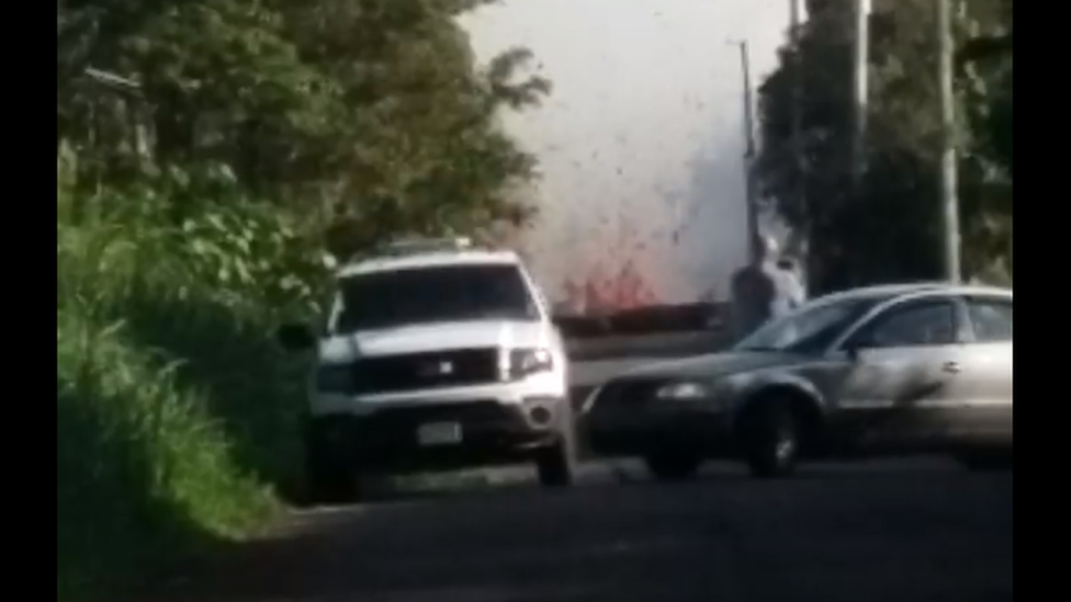 Maija Stenback filmed lava flow before being evacuated from her home