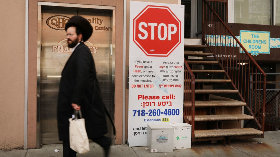 A state of emergency has been declared in some New York City orthodox Jewish enclaves
