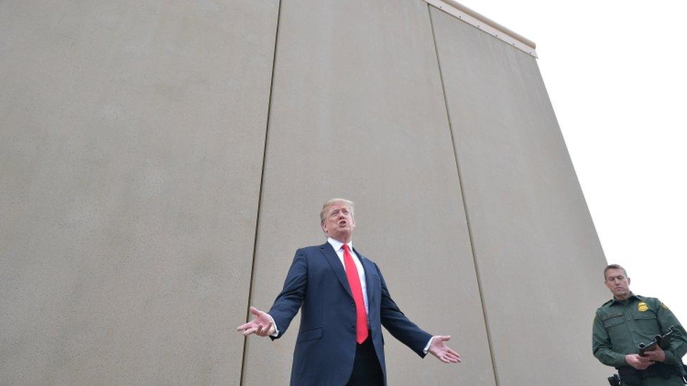 Donald Tramp ispred zida.