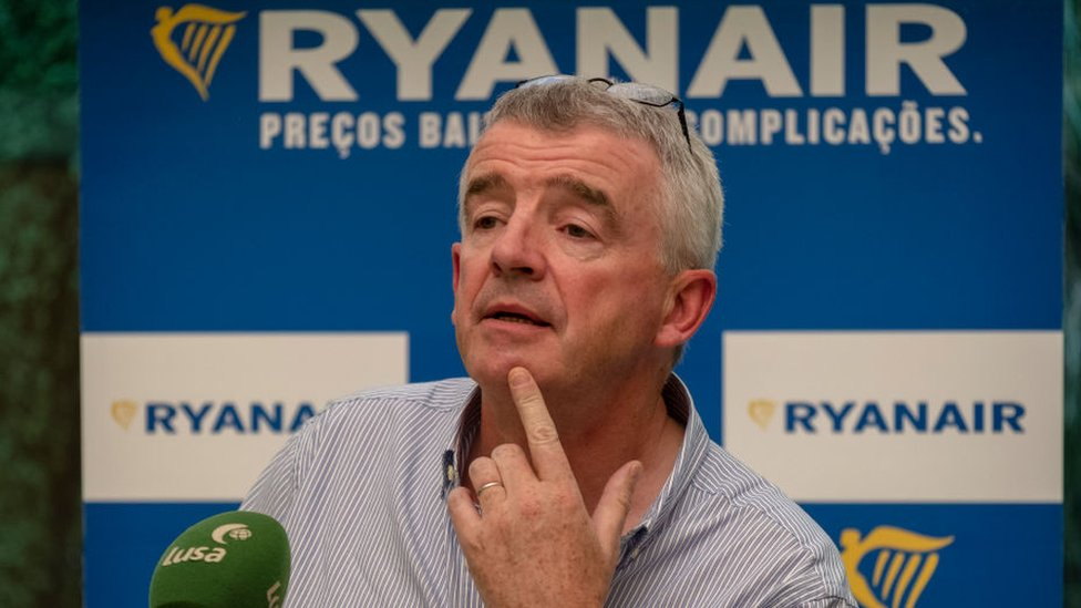 Ryanair chief executive Michael O'Leary