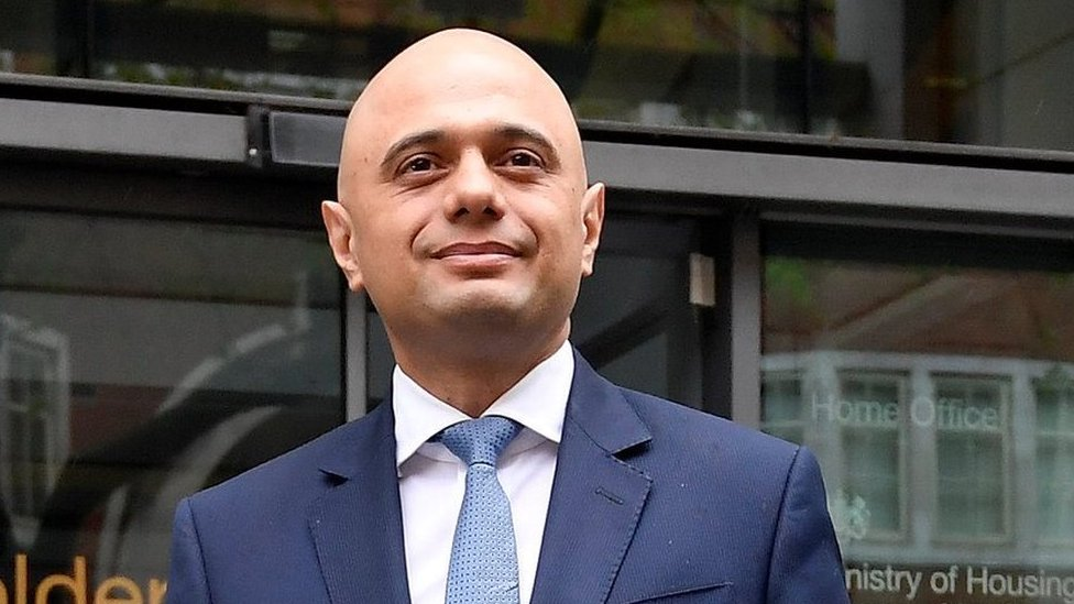 Sajid Javid pledges he is 'standing with' police in first speech