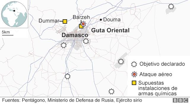 Mapa de Damasco