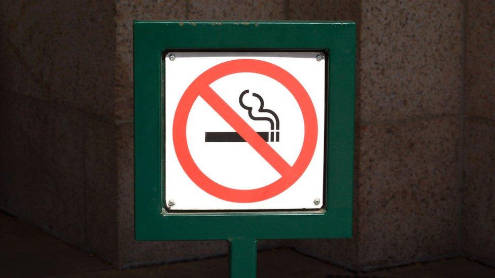 Cartel de prohibido fumar