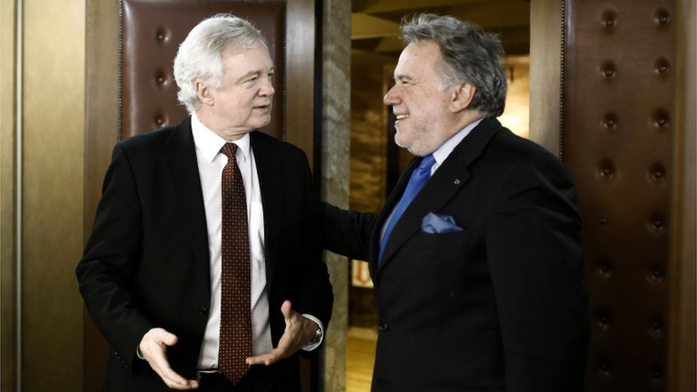 David Davis meets Greek Alternate Minister of Foreign Affairs George Katrougalos in Athens