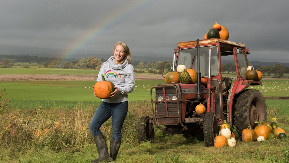 'I ditched telly props for growing pumpkins'