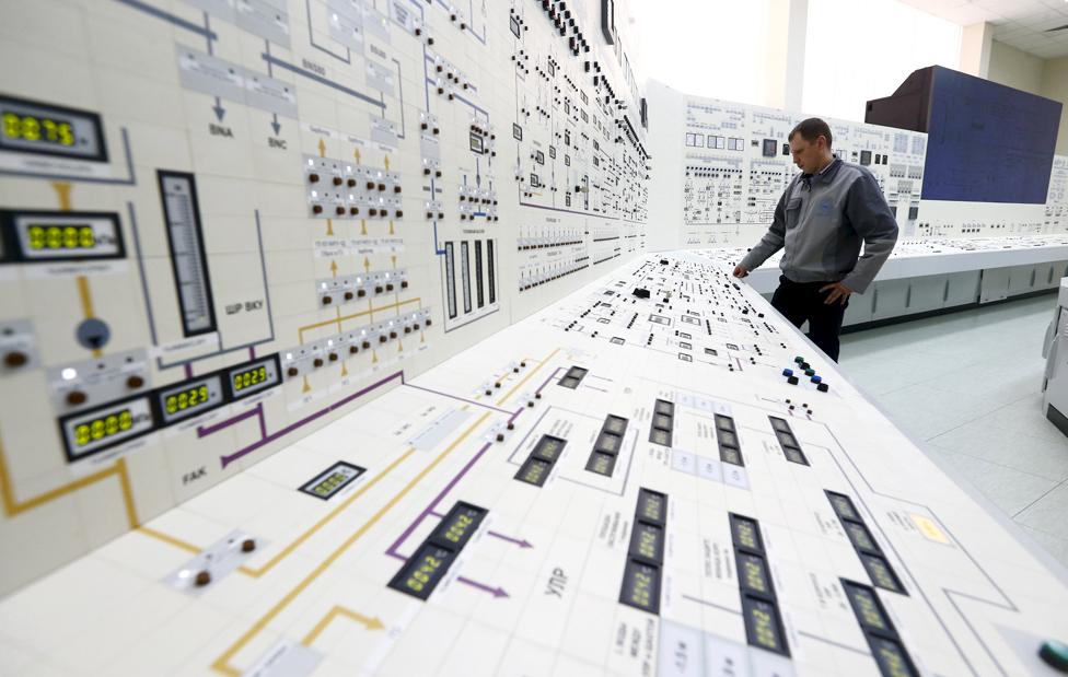 Nuclear power plant, Belarus, April 2016