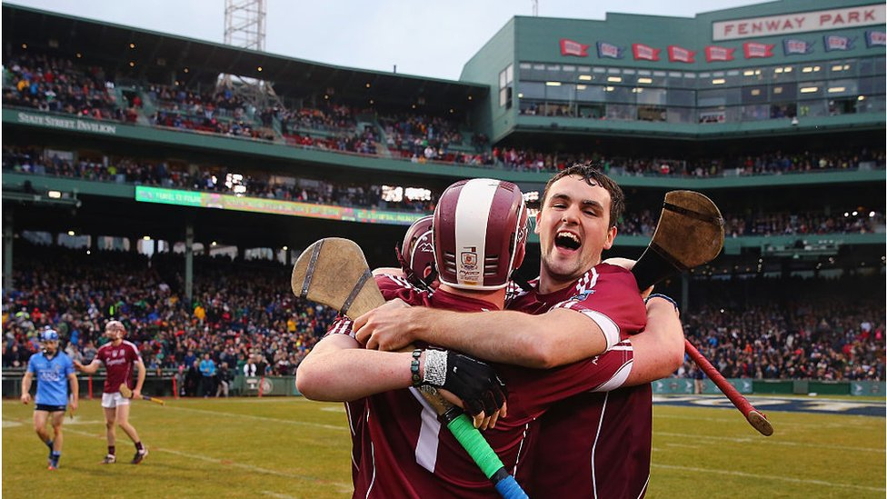 Dublin during the AIG Fenway Hurling Classic and Irish Festival at Fenway Park