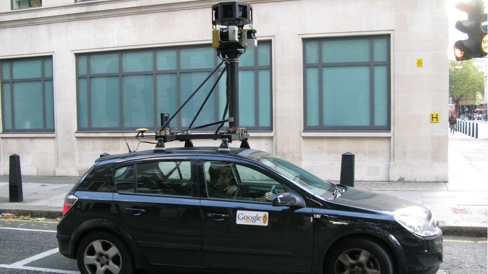 Un auto de Google Street View en 2008