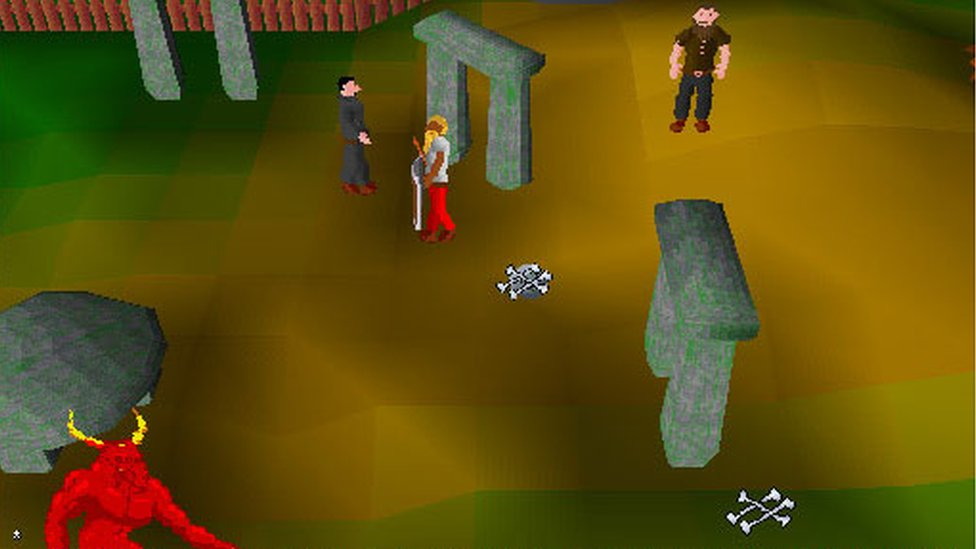 A screen grab from RuneScape Classic