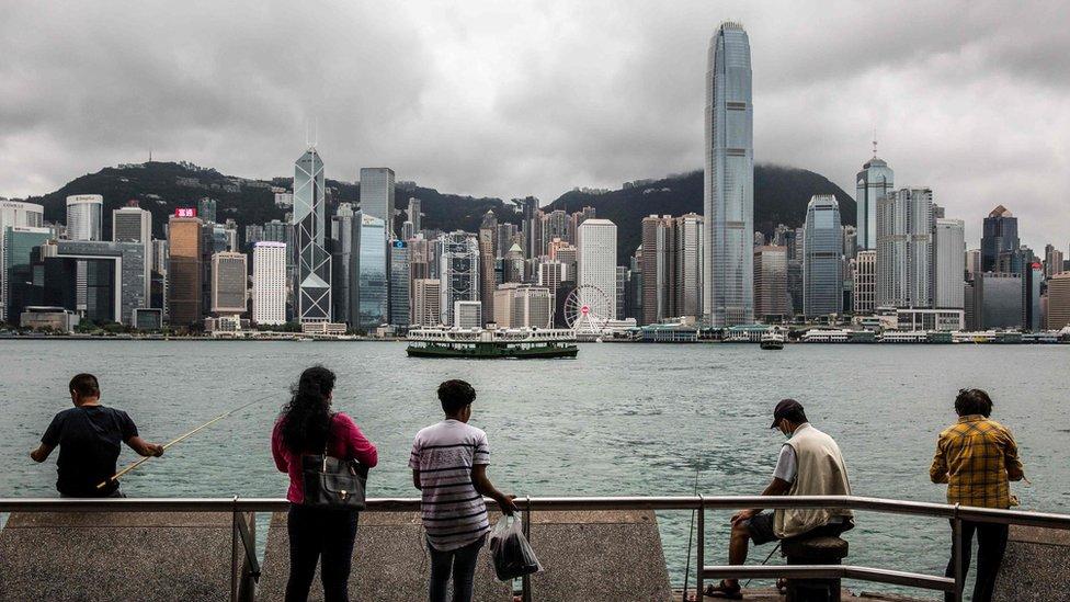 烏雲密布下的香港維多利亞港(31/5/2020)